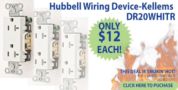 Hubbell Wiring Device-Kellems DR20WHITR