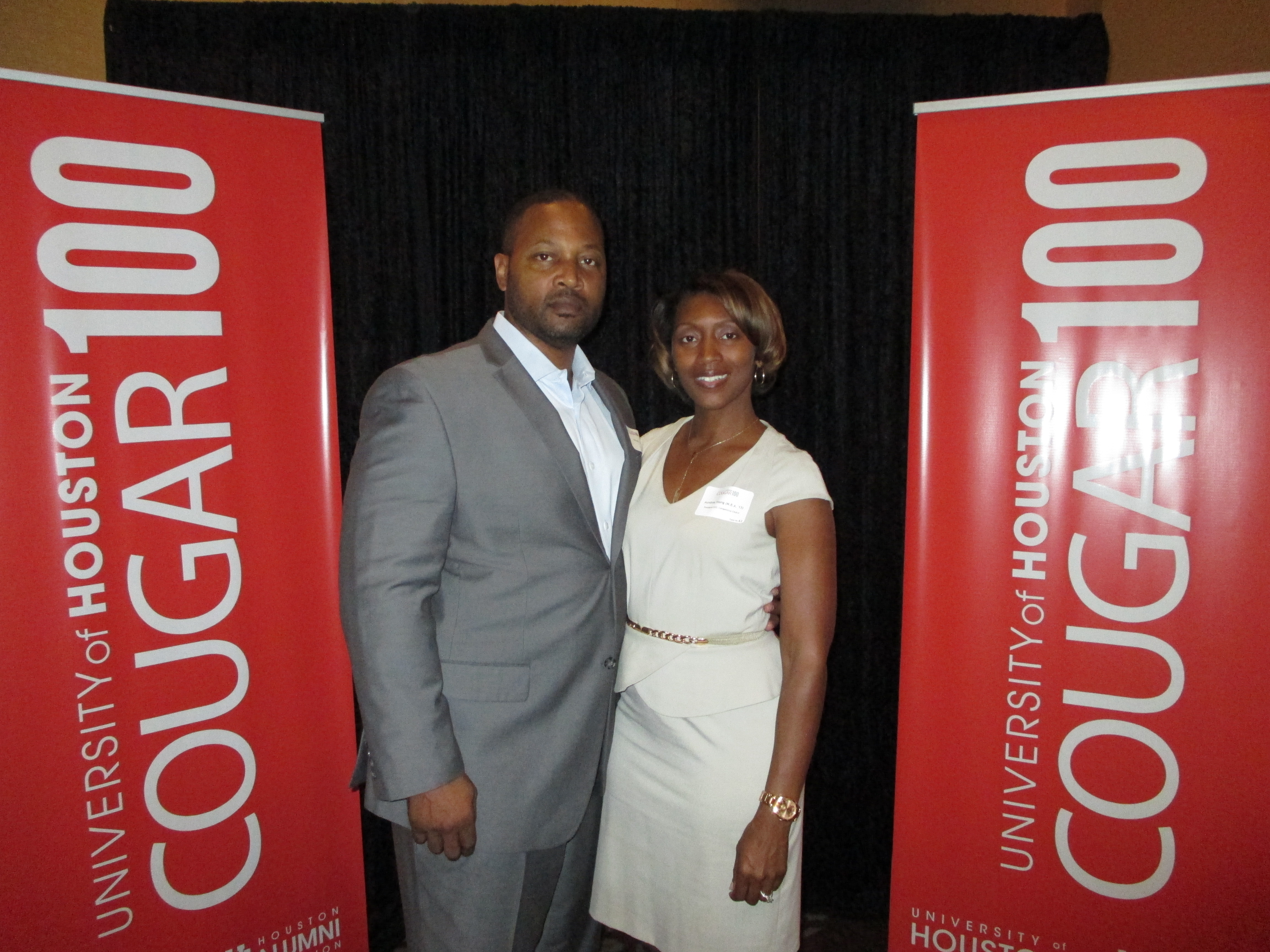 Aundrea and Richard at the Cougar 100 Luncheon